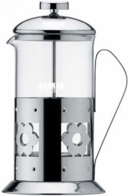Чайник заварочный Bekker De Luxe 387-BK серебристый 0.8 л металл/стекло