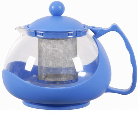 Чайник заварочный Bekker 308-ВК фиолетовый 1.25 л пластик/стекло