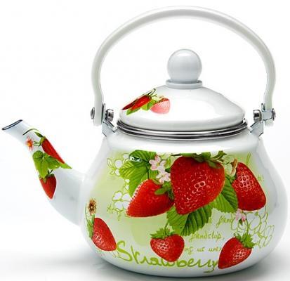 Чайник заварочный Mayer&Boch 23981-МВ белый рисунок 1.5 л металл
