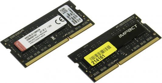 Оперативная память для ноутбуков SO-DDR3 8Gb (2x4Gb) PC15000 1866MHz Kingston HX318LS11IBK2/8