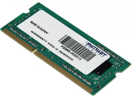 Оперативная память для ноутбуков SO-DDR3 4Gb PC10600 1333MHz Patriot PSD34G133381S