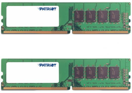 Оперативная память 16Gb (2x8Gb) PC4-17000 2133MHz DDR4 DIMM Patriot PSD416G2133K оперативная память 16gb pc4 17000 2133mhz ddr4 dimm ecc samsung original m393a2g40eb1 cpb0q