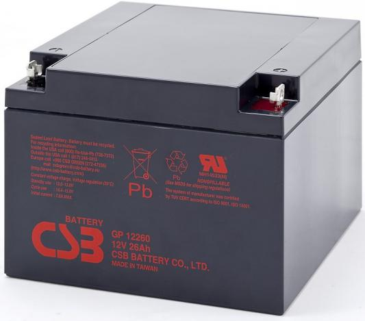 Батарея CSB GP12260 12V 26Ah батарея csb gp1245 12v 4 5ah