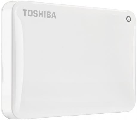 "Внешний жесткий диск 2.5"" USB3.0 3Tb Toshiba Canvio Connect II HDTC830EW3CA белый"