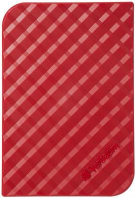 """Внешний жесткий диск 2.5"""" USB3.0 1Tb Verbatim Store n Go красный 53203"""