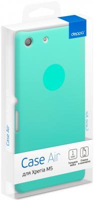 Чехол Deppa Air Case и защитная пленка для Sony Xperia M5, мятный 83206 стоимость