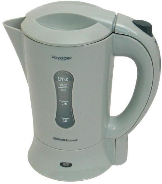 Чайник First 5425 600 Вт белый серый 0.4 л пластик