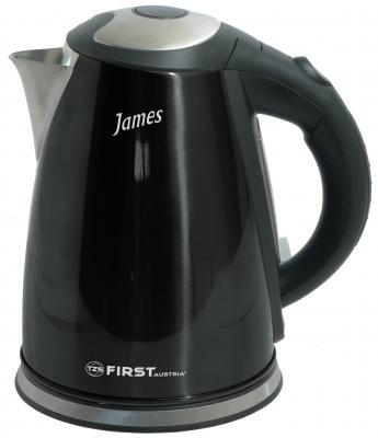 Чайник First 5411-6 2200 Вт чёрный 1.8 л нержавеющая сталь