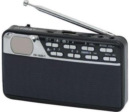 Радиоприемник First 1925-1 черный