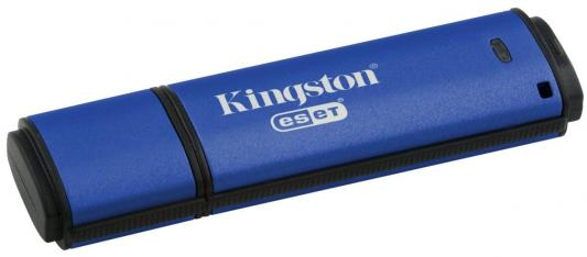Флешка USB 32Gb Kingston DataTraveler Vault with Privacy DTVP30/32GB синий msi original zh77a g43 motherboard ddr3 lga 1155 for i3 i5 i7 cpu 32gb usb3 0 sata3 h77 motherboard