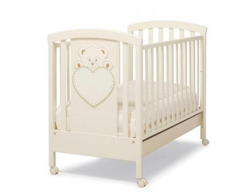 Кроватка Erbesi Lulu (слоновая кость) кроватка качалка erbesi amour слоновая кость