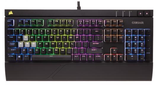 Клавиатура проводная Corsair Gaming Strafe RGB USB черный Cherry MX Red CH-9000227-RU