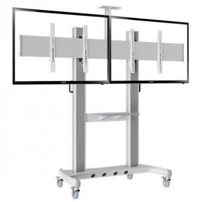 Стойка North Bayou AVT1800-60-2A для ЖК ТВ 40-60 VESA 200x200 до 136.4 кг на 2 ТВ серебристо-белый