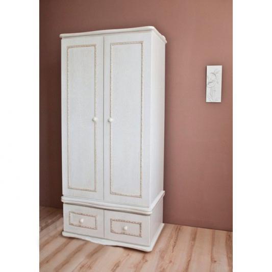 Шкаф двухстворчатый Красная Звезда С547 (античный белый)