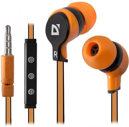 лучшая цена Гарнитура Defender Pulse-450 оранжевый 63450