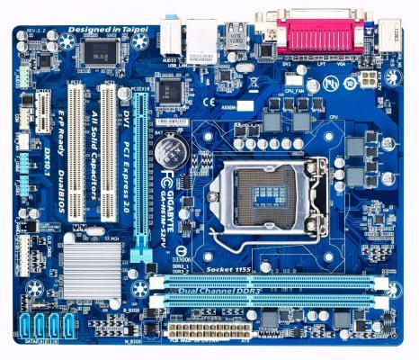 Мат. плата для ПК GigaByte GA-H61M-S2PV V2.2 Socket 1155 H61 2xDDR3 1xPCI-E 16x 2xPCI 1xPCI-E 1x 4xSATA II mATX Retail