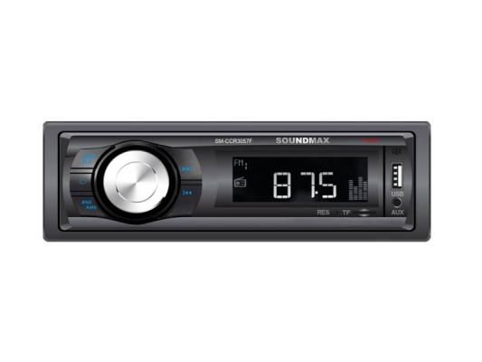 Автомагнитола Soundmax SM-CCR3057F USB MP3 microSD 1DIN 4x40Вт черный цена