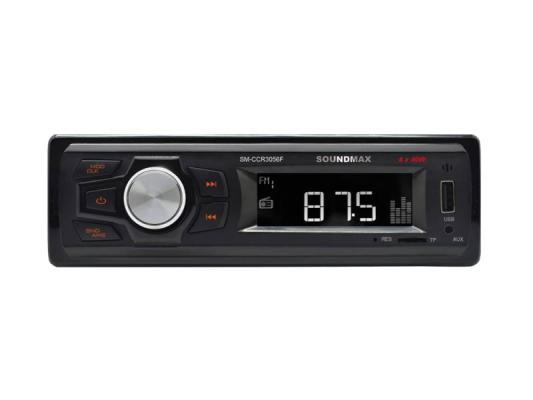 Автомагнитола Soundmax SM-CCR3056F USB MP3 microSD 1DIN 4x40Вт черный автомагнитола soundmax sm ccr3056f