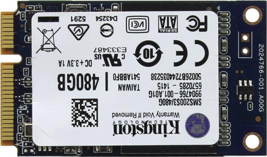 все цены на Твердотельный накопитель SSD mSATA 480GB Kingston SSDNow mS200 Read 530Mb/s Write 340Mb/s SMS200S3/480G онлайн