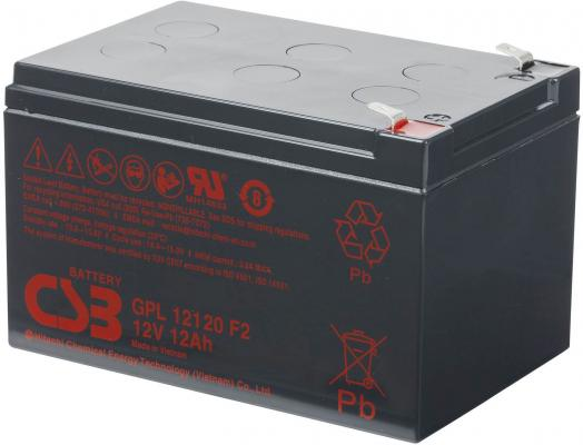 Батарея CSB GPL12120 F2 12V/12AH увеличенный срок службы до 10 лет цена и фото