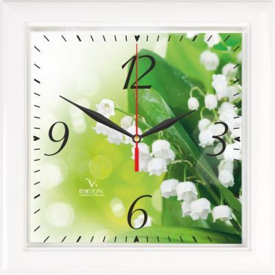 Часы настенные Вега Ландыши П 3-7-120 белый