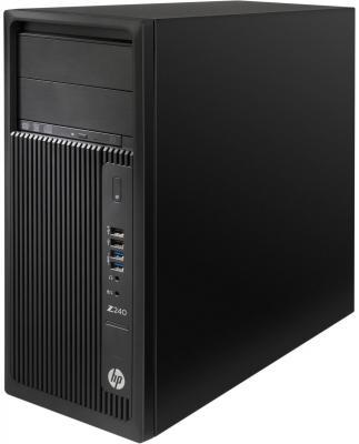 Системный блок HP Z240 MT i5-6600 3.3GHz 8Gb 1Tb HD 530 DVD-RW Win7 Win10Pro клавиатура мышь черный J9C04EA
