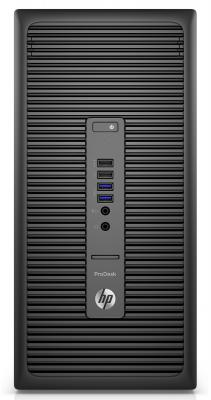 Системный блок HP ProDesk 600 G2 MT i3-6100 3.7GHz 4Gb 500Gb HD4400 DVD-RW Win7Pro Win10 клавиатура мышь черный T4J55EA