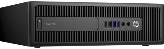 Системный блок HP ProDesk 600 G2 SFF i5-6500 3.2GHz 4Gb 500Gb HD4400 DVD-RW Win7Pro Win10 клавиатура мышь черный P1G57EA