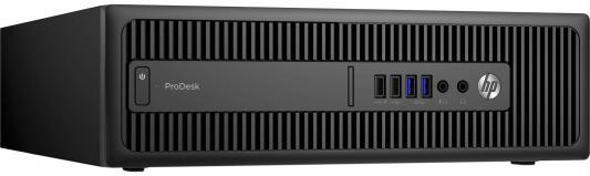 Системный блок HP ProDesk 600 G2 SFF i5-6500 3.2GHz 4Gb 500Gb HD4400 DVD-RW Win7Pro Win10 клавиатура мышь черный P1G57EA