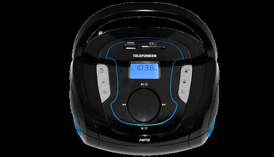 Магнитола Telefunken TF-SRP3471B черно-синий