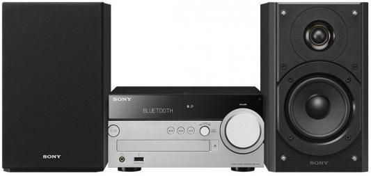 Микросистема Sony CMT-SX7 черный/серебристый микросистема sony cmt sbt40d черный