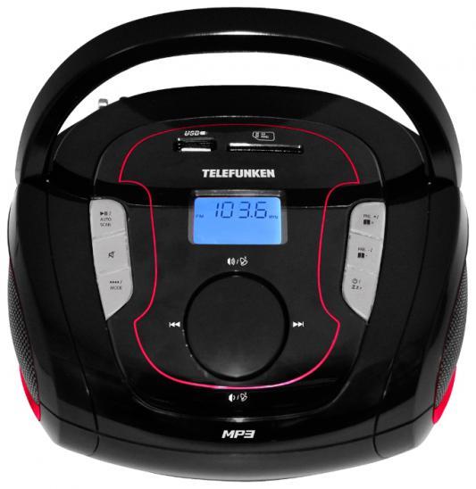 Магнитола Telefunken TF-SRP3471B черно-красный радиоприемник telefunken tf srp3471b black green