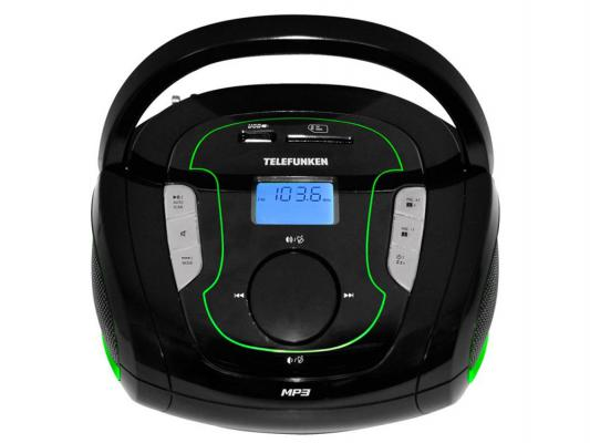 цена на Магнитола Telefunken TF-SRP3471B черно-зеленый