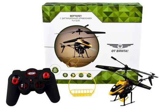 Вертолёт на радиоуправлении От Винта Fly-0236 пластик от 7 лет черный 87229