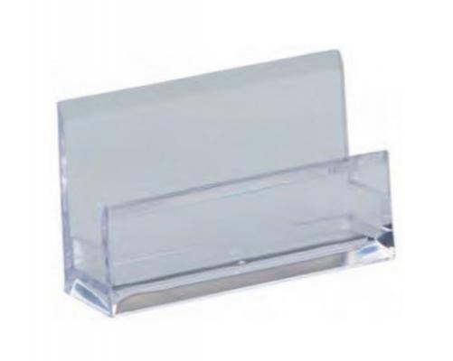 Подставка для визиток Alco 103х60х30мм прозрачный акрил 4456