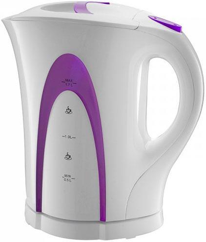 Чайник Saturn ST-EK 0002 New 2000 Вт белый фиолетовый 1.7 л пластик