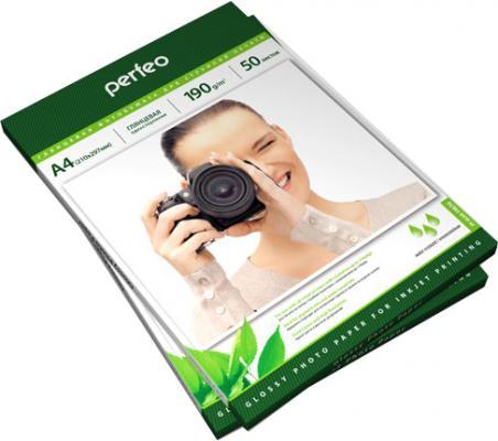 Фотобумага Perfeo PF-GLA4-190/50 А4 190г/м2 глянцевая 50л