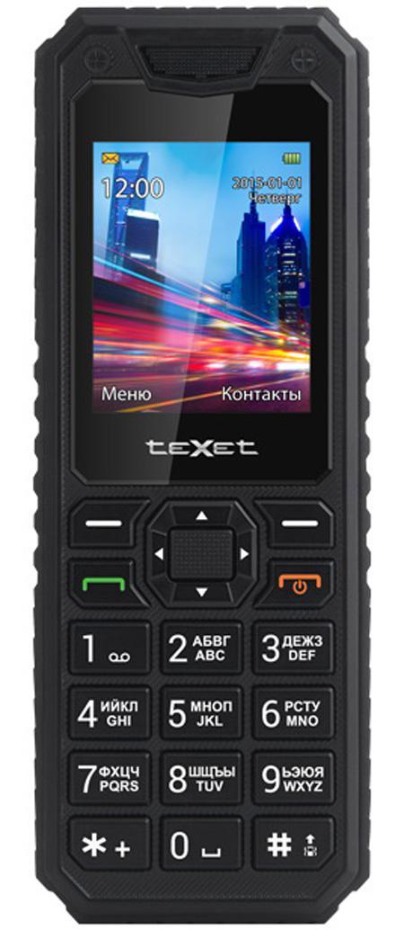 Мобильный телефон Texet TM-D302 черный мобильный телефон texet tm 501 черный