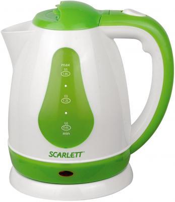 Чайник Scarlett SC-EK18P30 1700 Вт белый зелёный 1.8 л пластик scarlett чайник scarlett is 503 белый