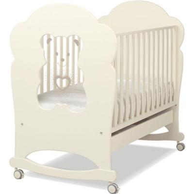 Кроватка-качалка Erbesi Tiffany (слоновая кость)