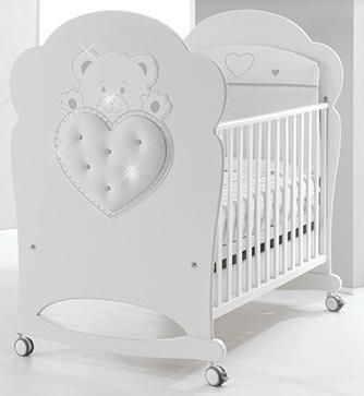 Кроватка-качалка Erbesi Elite (белый)