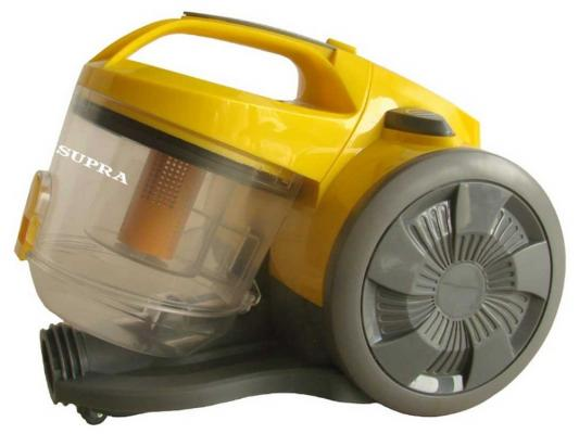 Пылесос SUPRA VCS-1624 без мешка сухая уборка 1600/340Вт желто-серый пылесос supra vcs 1624 1600вт желтый серый