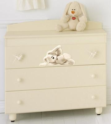 Комод пеленальный с ванночкой Baby Expert Cremino Lux (крем) детская кровать baby expert cremino by trudi