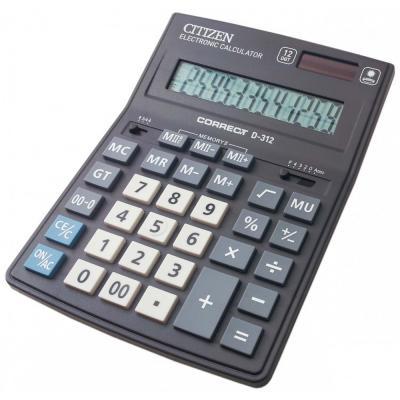 Калькулятор настольный Citizen Correct D-312 12-разрядный