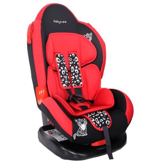 Автокресло Baby Care BC-02 Люкс Леопардик (красный)