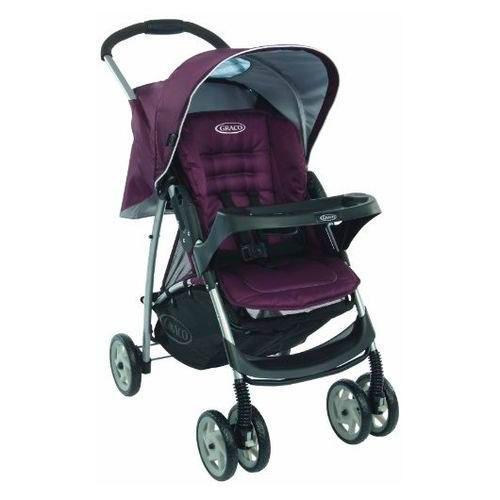 Прогулочная коляска Graco Mirage + W Parent tray (накидка) and boot (столик) (plum)