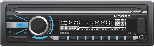 Автомагнитола Rolsen RCR-253B бездисковая USB MP3 FM SD MMC 1DIN 4x45Вт черный