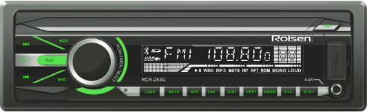 Автомагнитола Rolsen RCR-253G бездисковая USB MP3 FM SD MMC 1DIN 4x45Вт черный