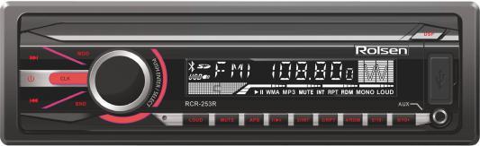 Автомагнитола Rolsen RCR-253R бездисковая USB MP3 FM SD MMC 1DIN 4x45Вт черный