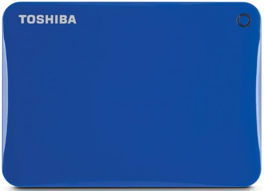 "Внешний жесткий диск 2.5"" USB3.0 3Tb Toshiba Canvio Connect II HDTC830EL3CA голубой"